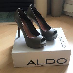 Aldo Whitsey Platform Peeptoe Heels